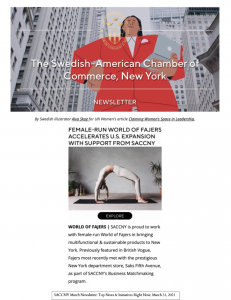Fajers SACCNY March Newsletter